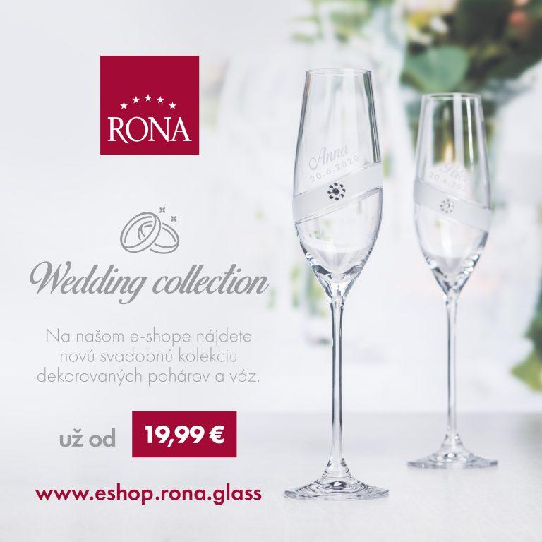 Kolekcia svadobných kalichov a váz na našom e-shope